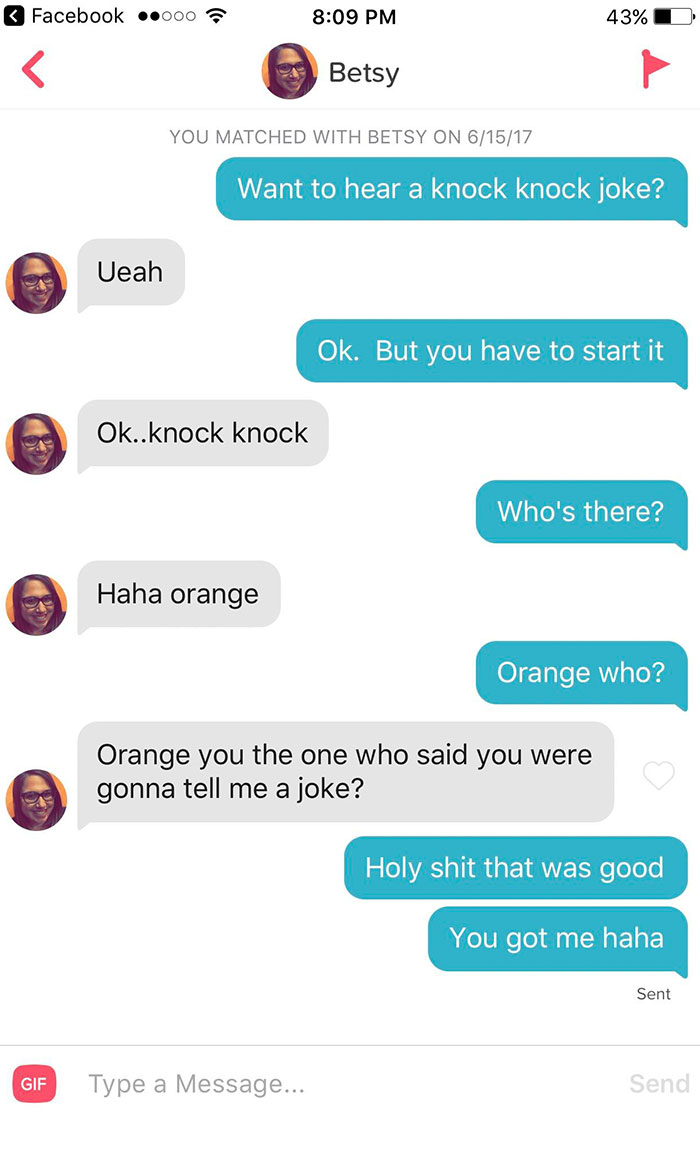 Best Knock Knock Joke Reply I Have Ever Received