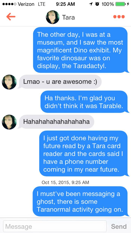 Tarable Tinder Puns