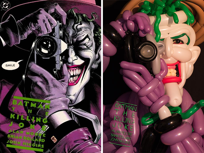 I Recreated Iconic Comic Book Covers Using Balloons