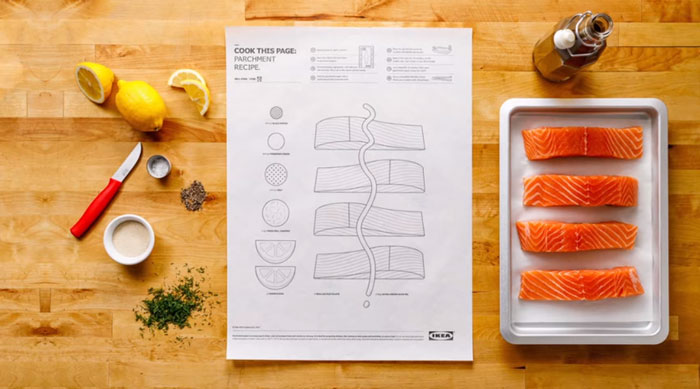 ikea's genius recipe posters make cooking effortless with a simple