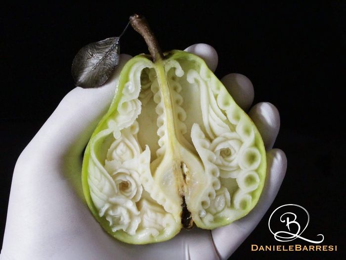 I Turn Fruit Into Unique Artworks With Just A Knife