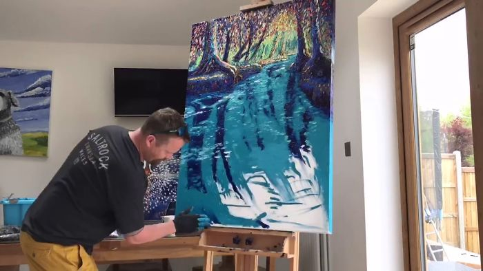 My Time Lapse Video Of My Finger Painting Of The New Forest In Hampshire In Oil On Canvas