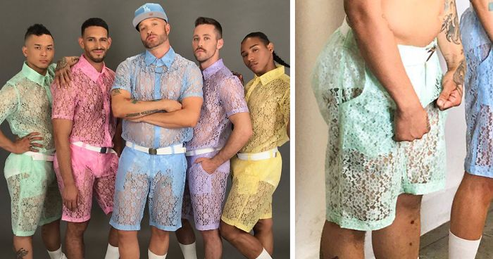 4c6b4e2413af Lace Shorts For Men Exist And We Don t Know What To Think