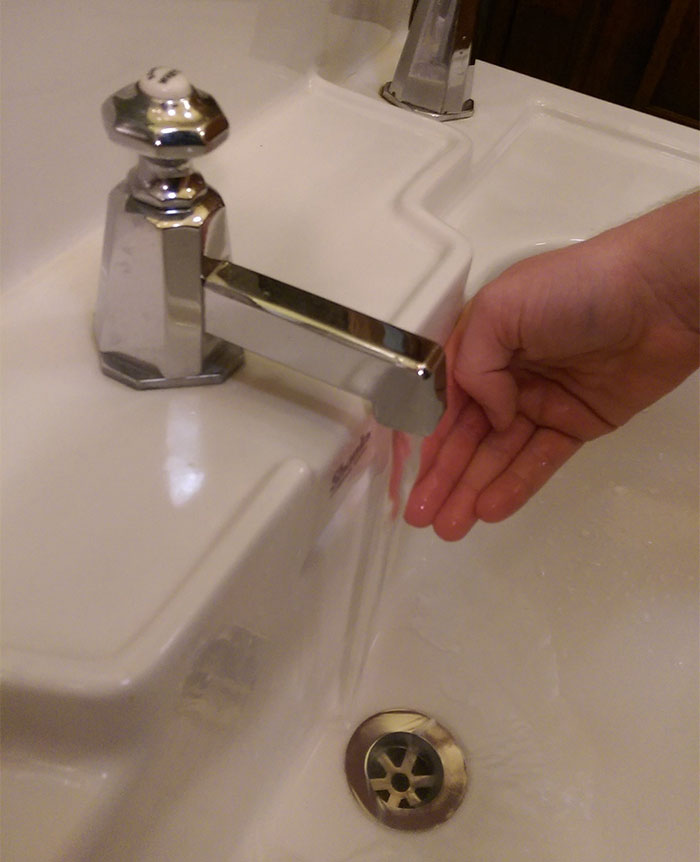 This Faucet So Close To The Sink