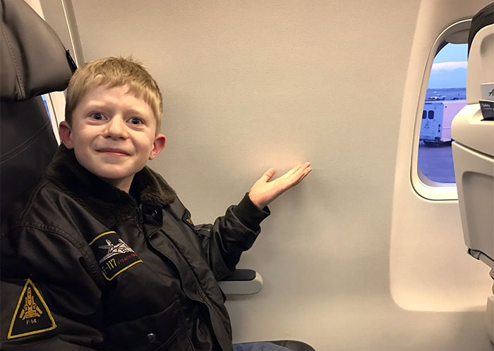 We, Too, Booked A Window Seat On An Airplane For My Boy's First Flight