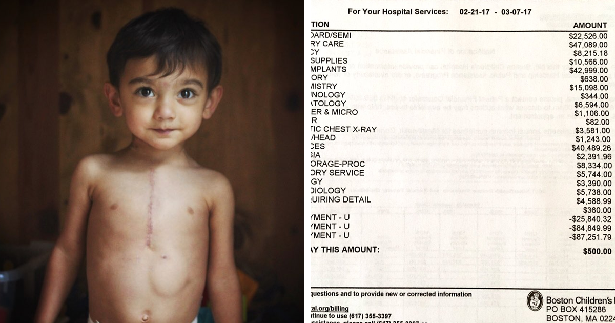 Mom Shares Her Son's Shocking Surgery Bill To Show Why People Need To Stop Trumpcare From Happening
