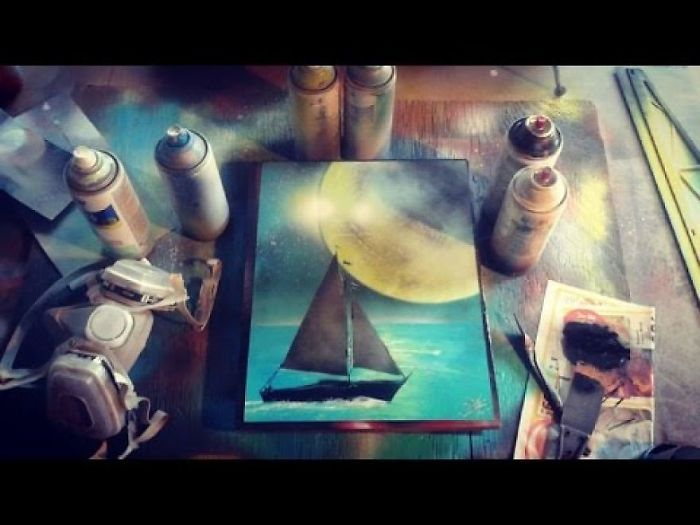 Sail By Moonlight Painting