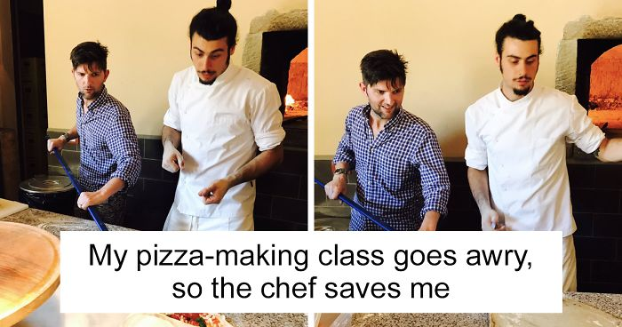 """Parks & Recreation"" Star Adam Scott Hilariously Fails At Pizza-Making Class In Italy, Chef Brilliantly Saves Him"
