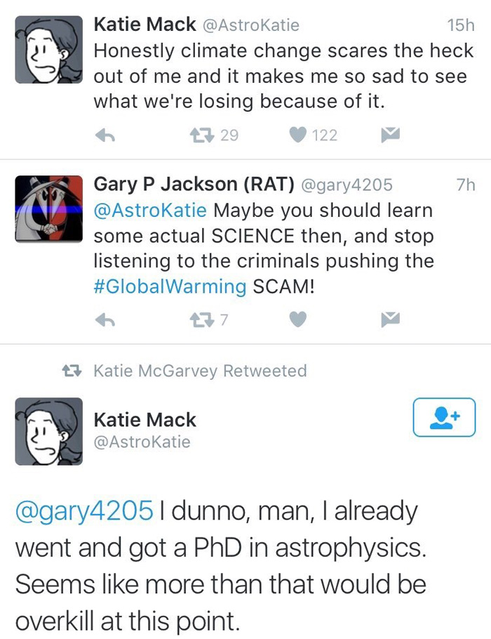 Twitter User Tells Woman With PHD In Astrophysics That She Needs To Learn Some Science