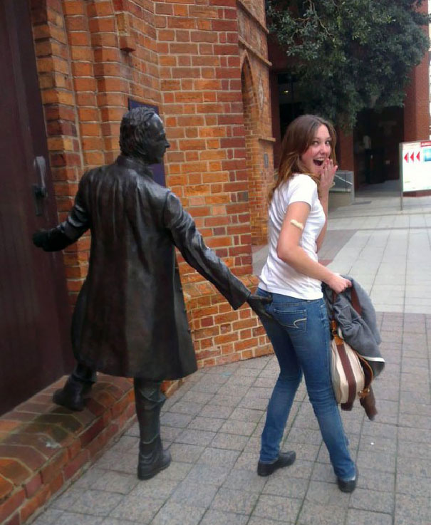 In Soviet Russia, Statue Gropes You!