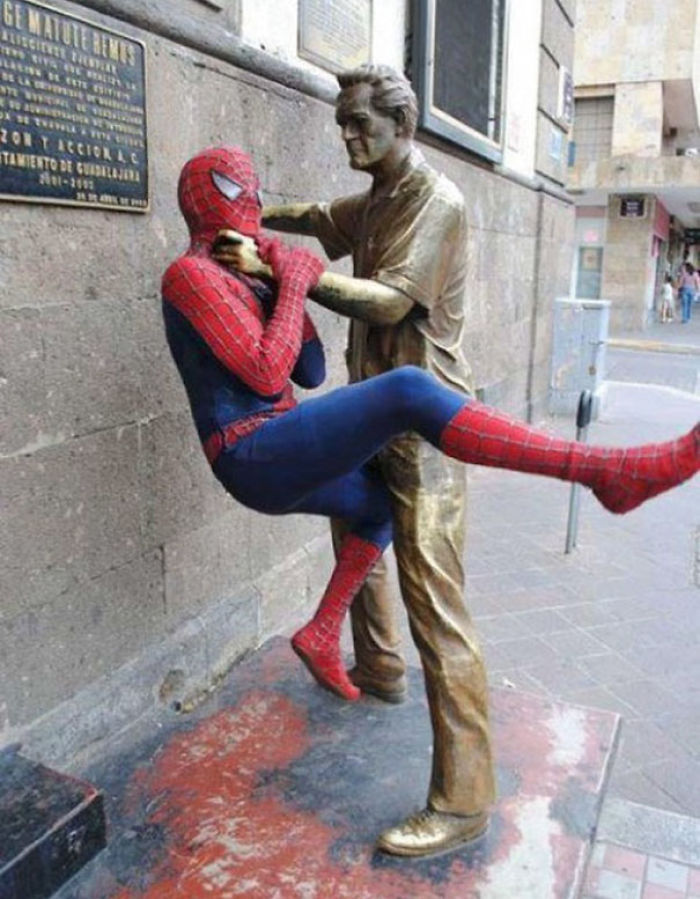 The Statues In My City Aren't Fond Of Spiders