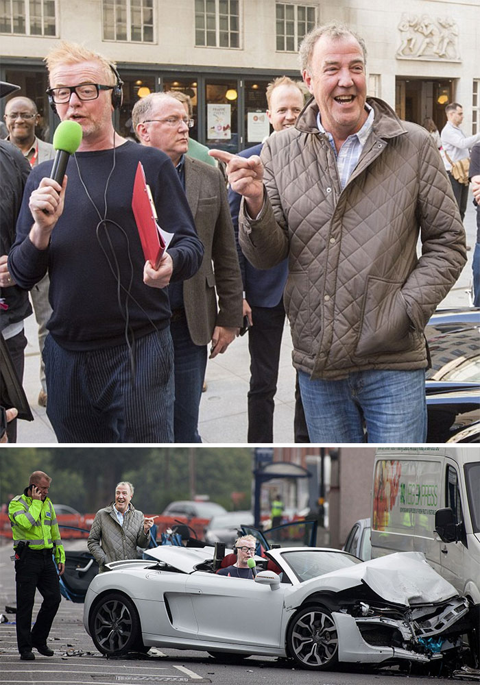 Jeremy Clarkson Laughing At Chris Evans