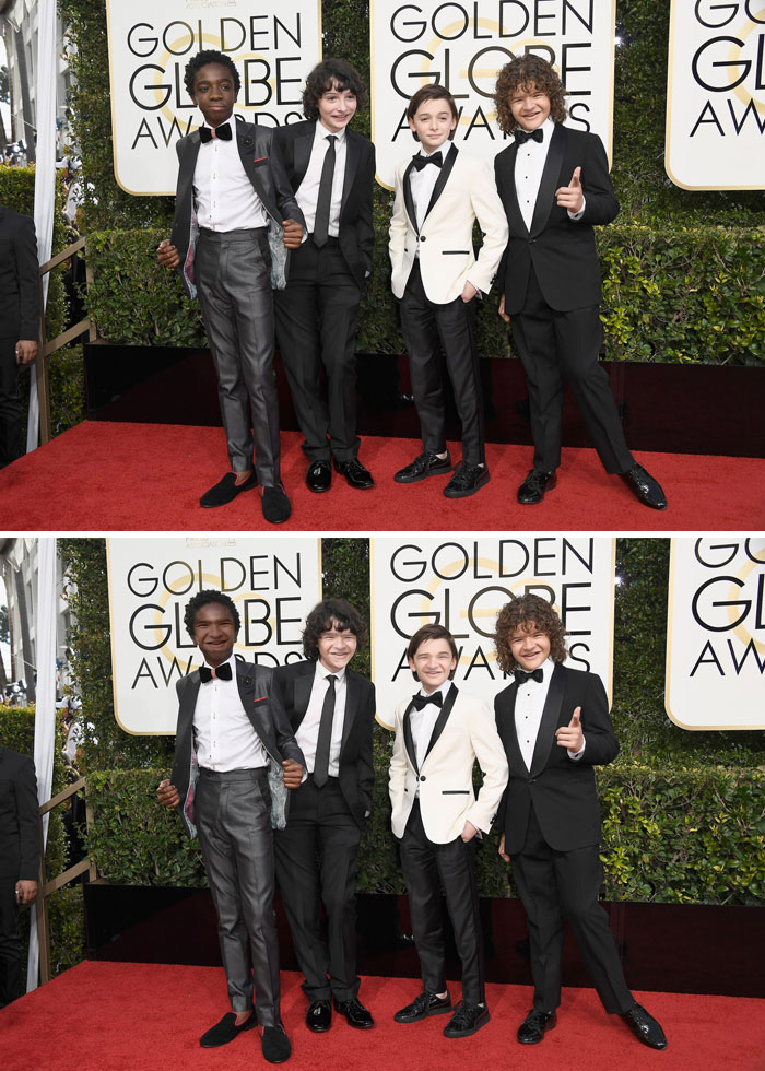 The Boys From Stranger Things On The Red Carpet At The Golden Globes