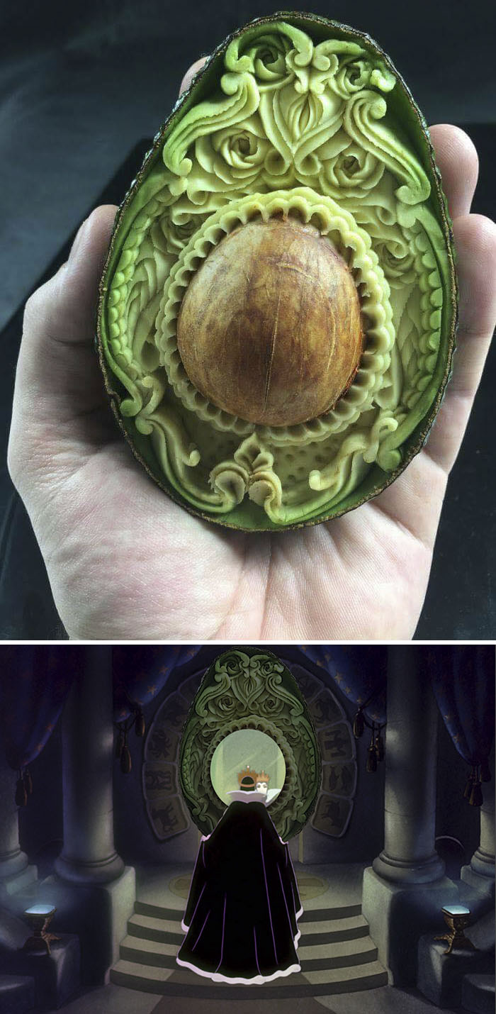 This Handcarved Avocado