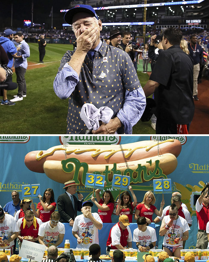 Bill Murray After The Cubs Win Last Night