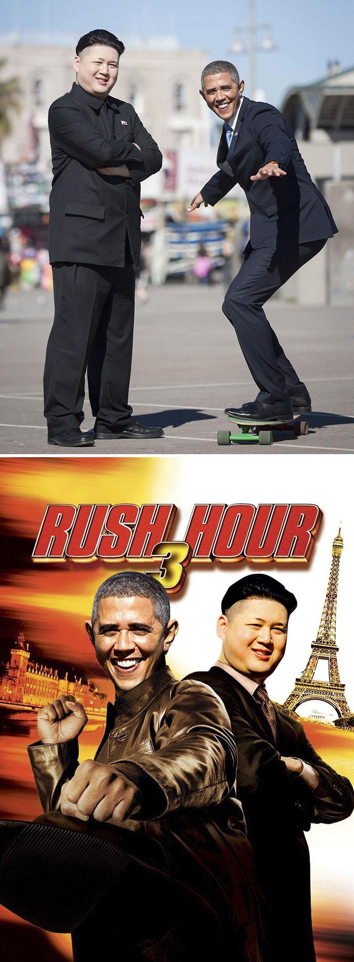 Barack Obama And Kim Jong Un Lookalikes