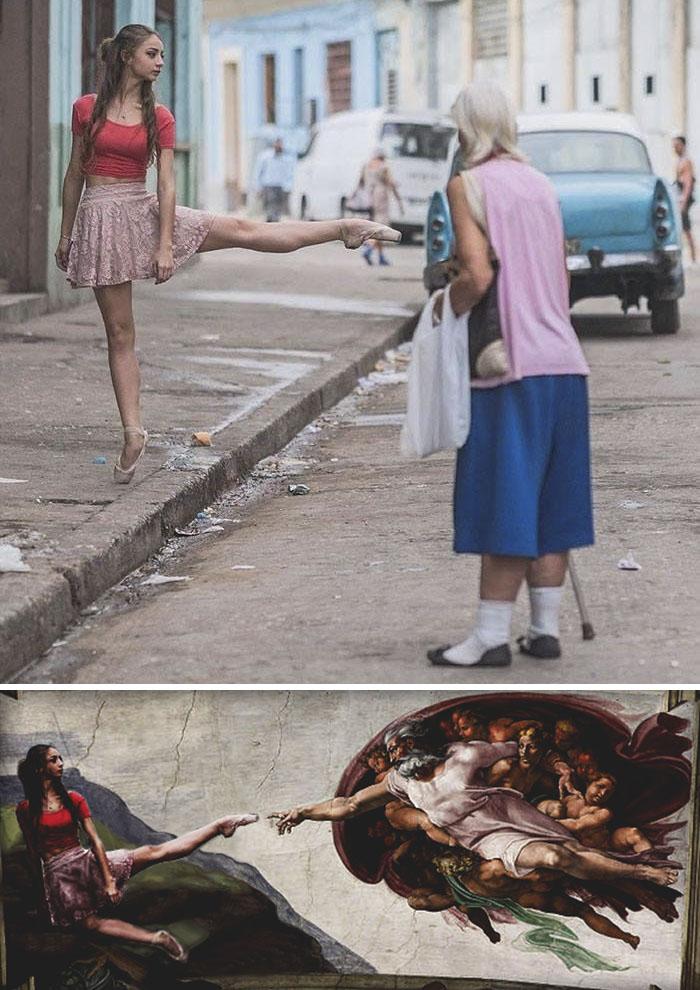 Student Ballerina Dancing In Havana's Streets