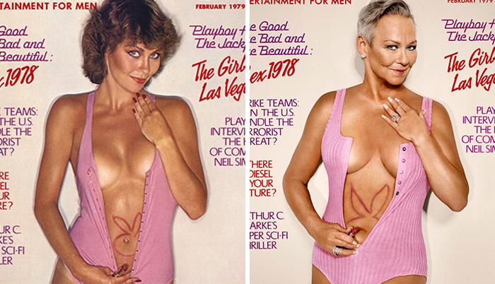 7 Conejitas de Playboy recrean las portadas en las que aparecieron 30 años después