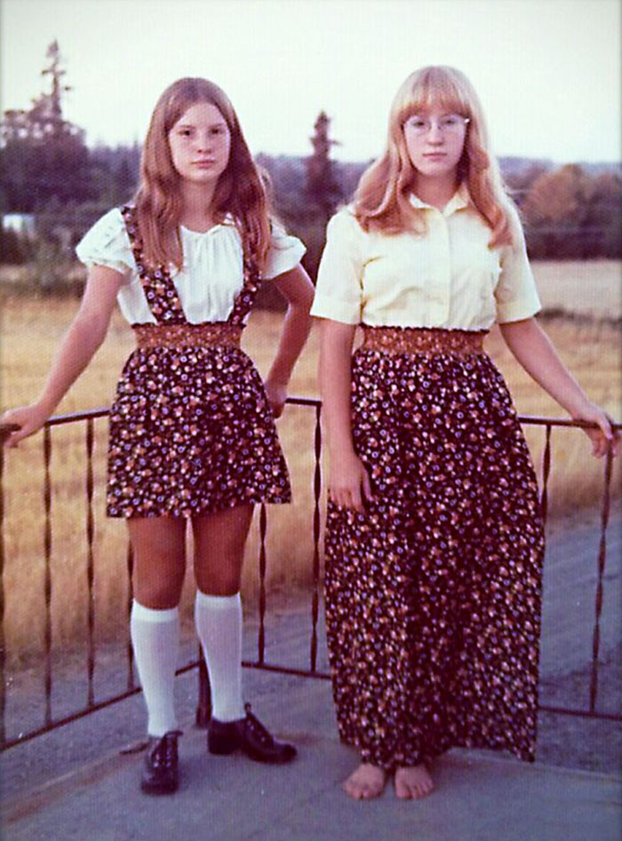 My Sister And I Looking Hot In The 70s. I'm Headed To Woodstock... She's Off To Oktobetfest!