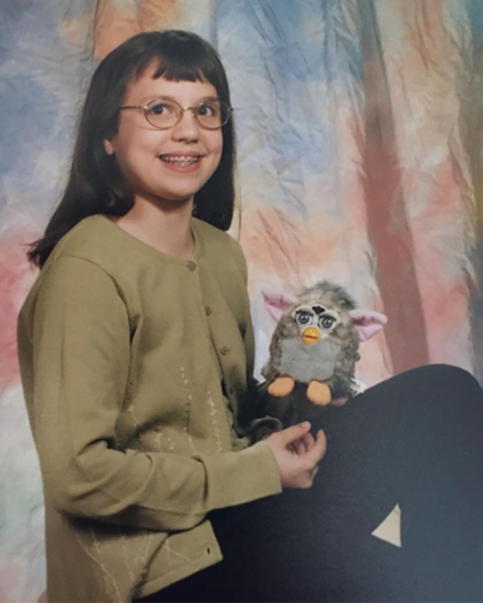I Insisted That My Furby Be In My Sixth Grade School Picture With Me