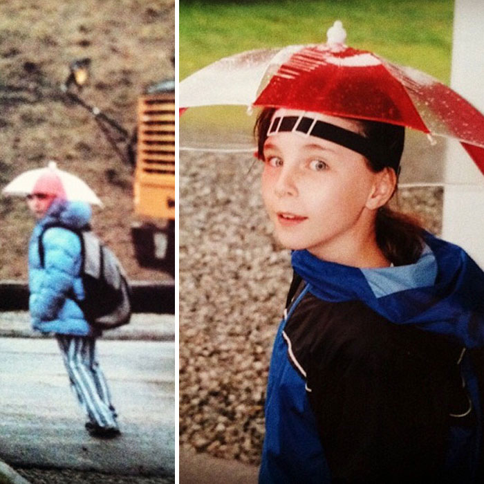 I Used To Wear An Umbrella Hat To School Every Rainy Day In 4th Grade