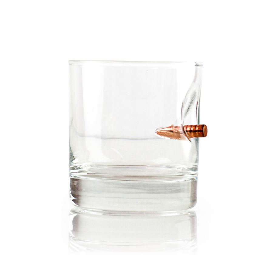 Take A Shot From This Hand-Blown Bulletproof Whisky Glass