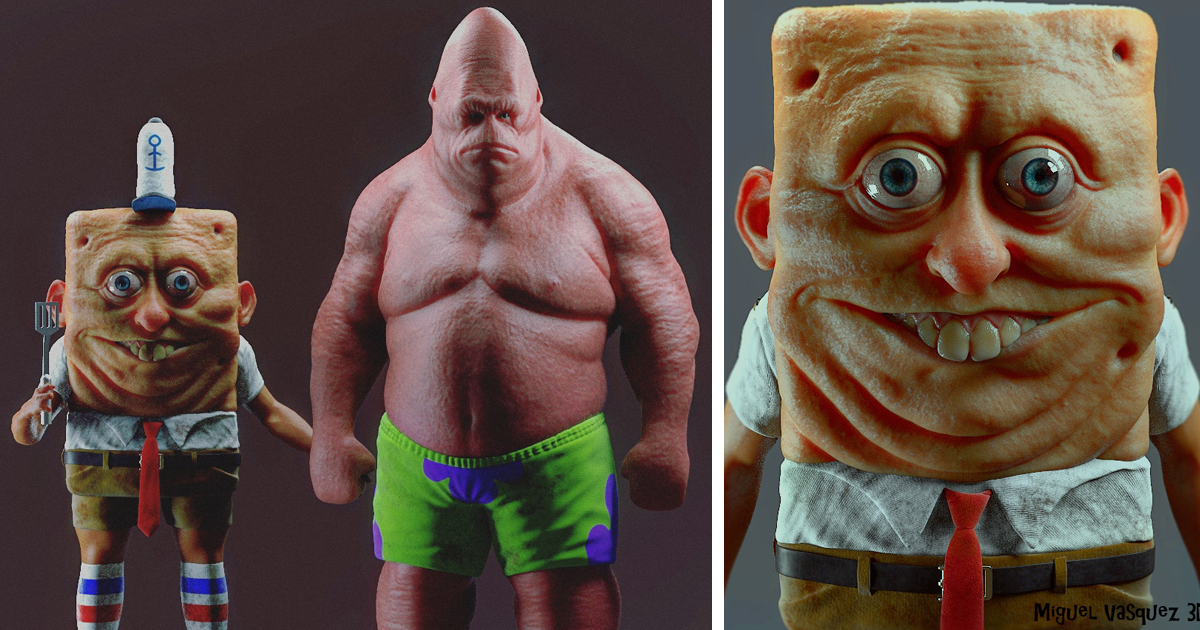 10+ Realistic Cartoon Character Versions You Wouldn't Want To Meet In Real Life
