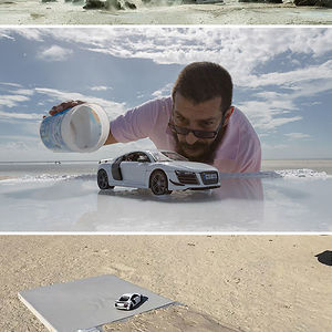 Audi Asks Photographer To Photograph Their $160,000 Sports Car, He Uses $40 Miniature Toy Car Instead