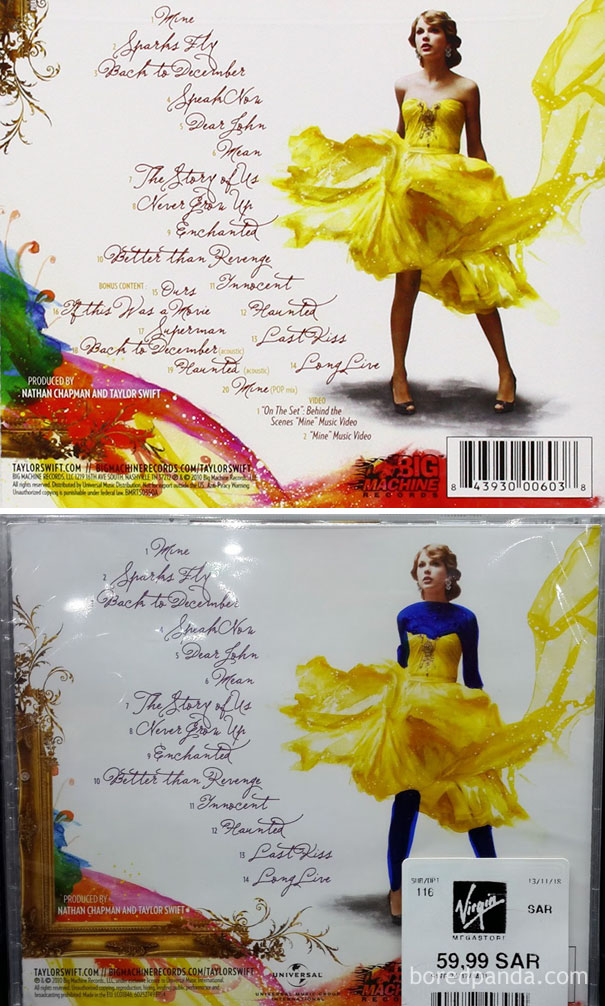 Back Cover Of Taylor Swift's 'Speak Now'