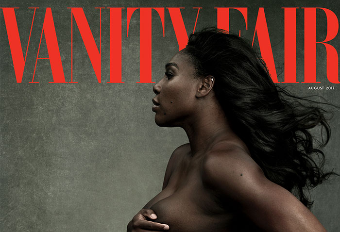 "Serena Williams Poses Topless As Pregnant Goddess For Vanity Fair, And Some People Find It ""Disgusting"""