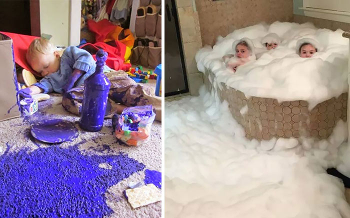 Share what happens when you leave your kids alone