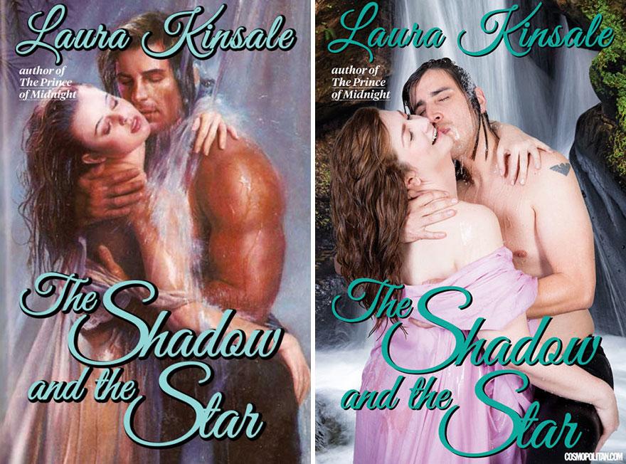 Romance Book Covers ~ Regular people recreate corny romance novel covers and