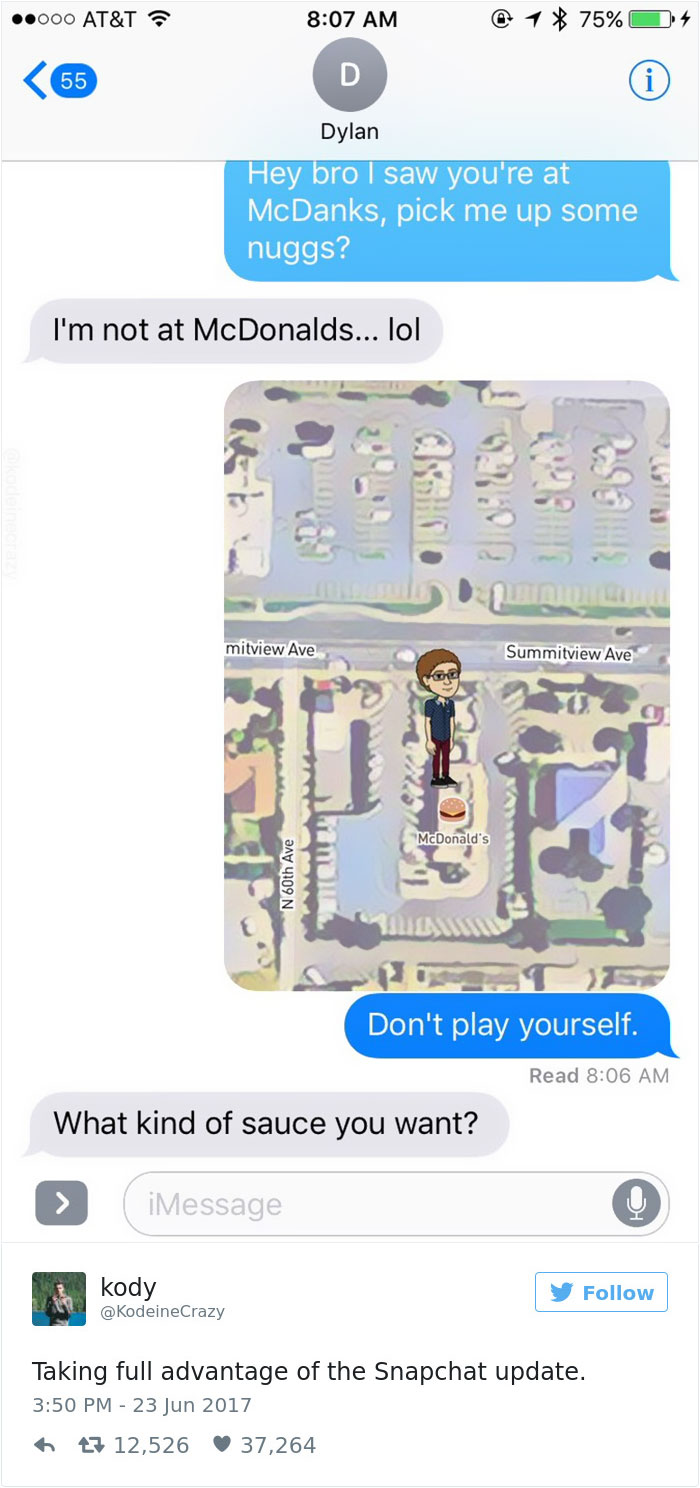 Snapchat Karte Bitmoji Pose.Snapchat Introduces New Map Update And Here S 46 Of The Funniest