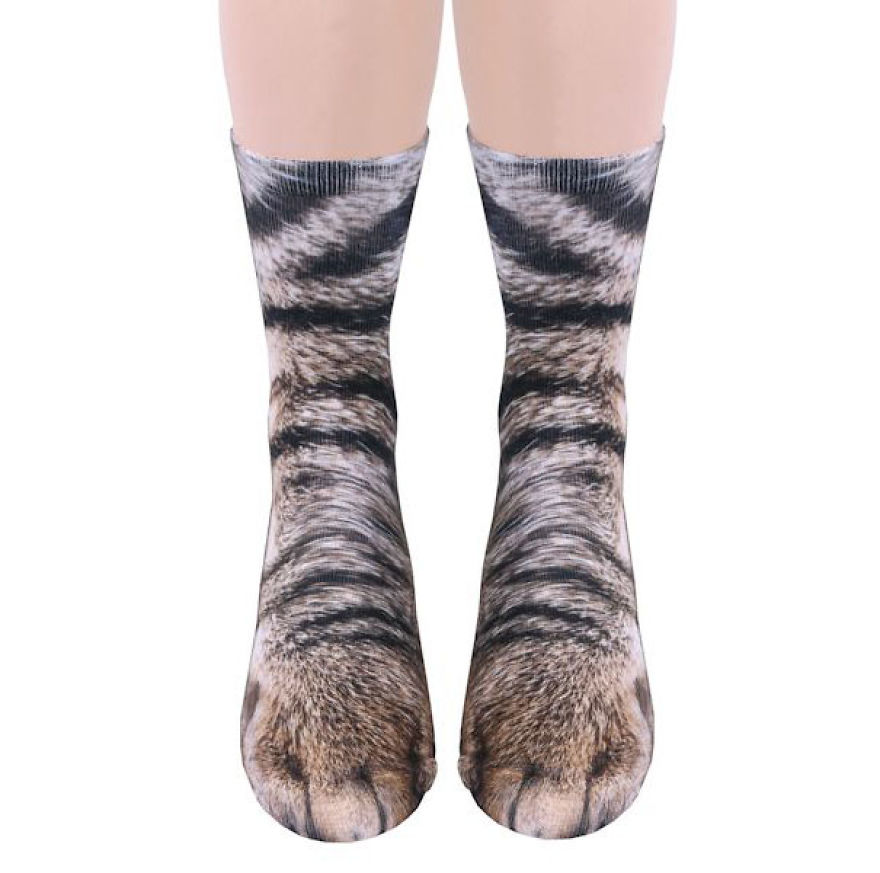 Realistic Animal Socks Will Make You Look Like You Have Animal Paws