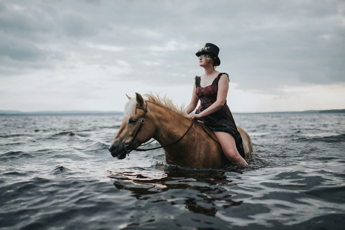 Steampunk With Maddie The Lake Loving Horse