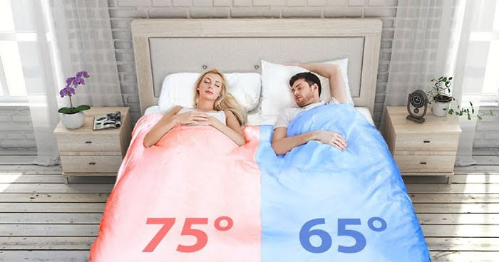 Image result for Sleep in the temperature you prefer and never make your bed again with the Smartduvet dual-zone climate-controlled self-making bed.