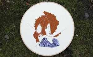 I Embroidered Fractured Portraits Of Women Showing The Complex Feelings We Experienced After The Election