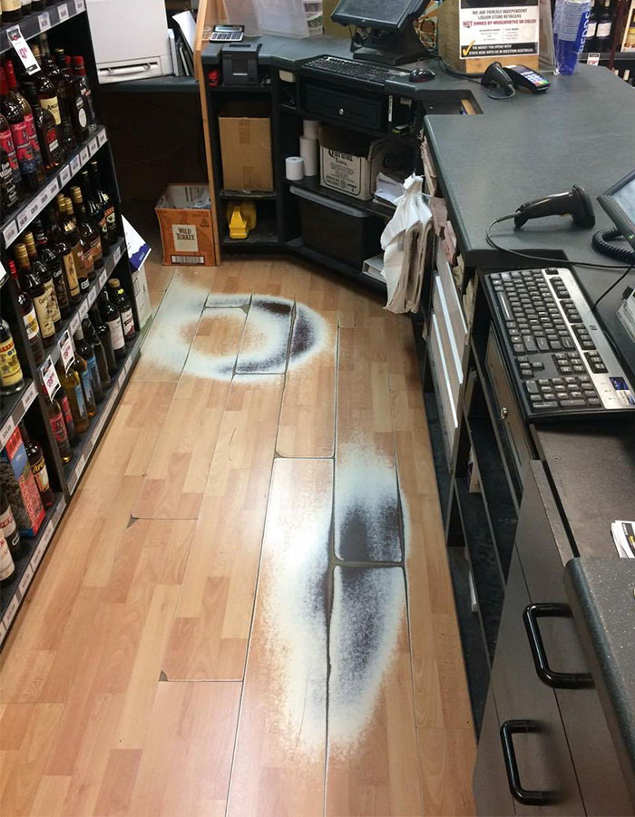 Paths Behind The Tills At My Work