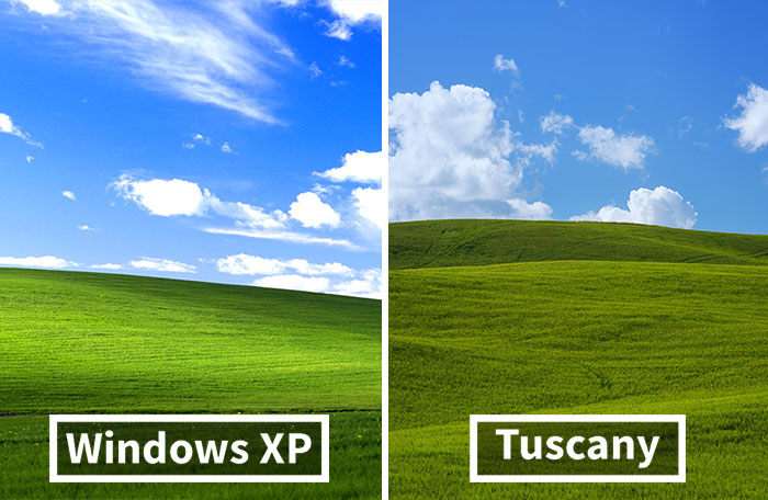 I Photographed Tuscany And It Looks Like The Classic Windows XP Wallpaper