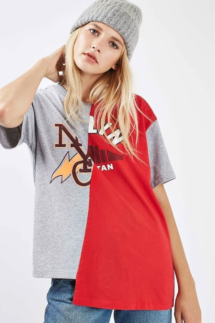 Spliced College T-shirt