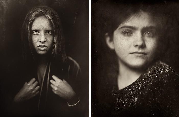 Esta fotógrafa usa una técnica de hace 166 años para retratar a niños, y los resultados son cautivadores