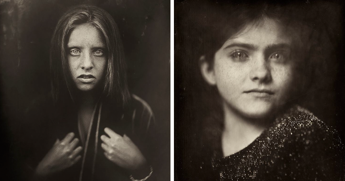 Photographer Uses 166-Year-Old Technique To Shoot Kids, And The Result Is Haunting
