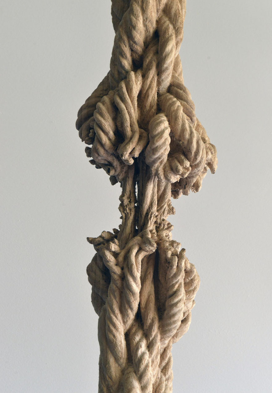Giant Tree Trunk Carved Down To Frayed Rope By Maskull Lasserre 3