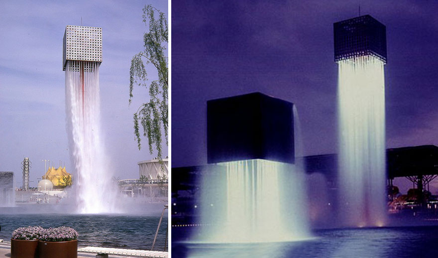 'Nine Floating Fountains', Osaka, Japan