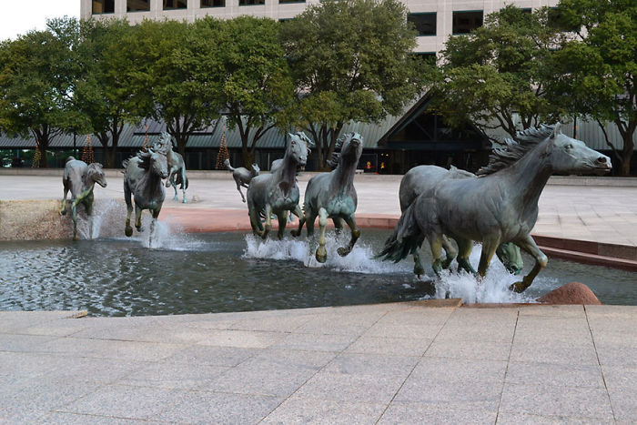 'The Mustangs Of Las Colinas', Texas, USA