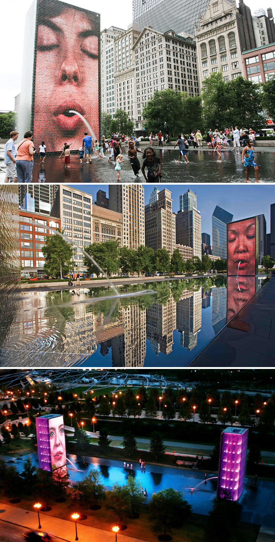 Crown Fountain, Chicago, USA