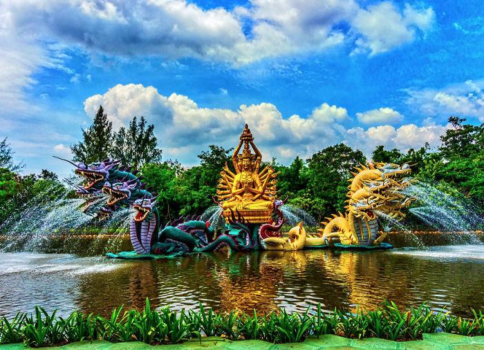 Bodhisattva Avalokiteshvara Fountain, Ancient City, Thailand