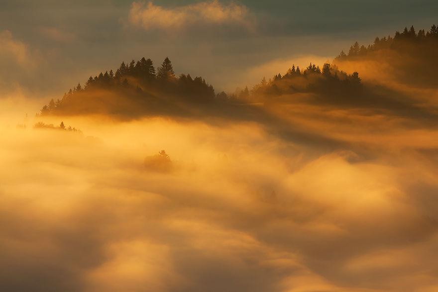 Sunrise In The Pieniny Mountains