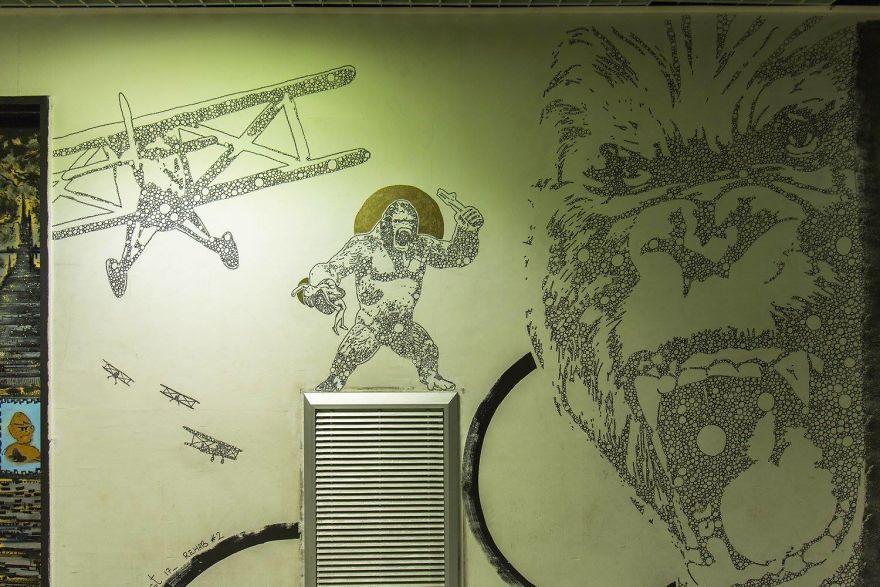 Փարիզում 100 փողոցային նկարիչ մի ամբողջ համալսարան է նկարազարդել ու անճանաչելի դարձրել բուհը (լուսանկարներ)