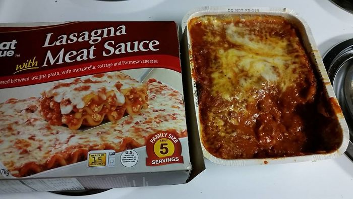 This Lasagna Was Missing Half The Cheese.